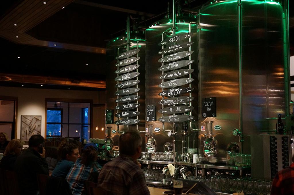 Island bar at Sierra Nevada Brewing Co