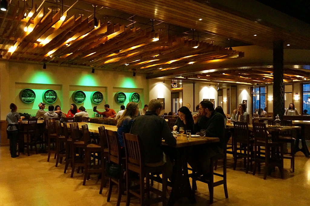 Dinning area at Sierra Nevada Brewing Co.