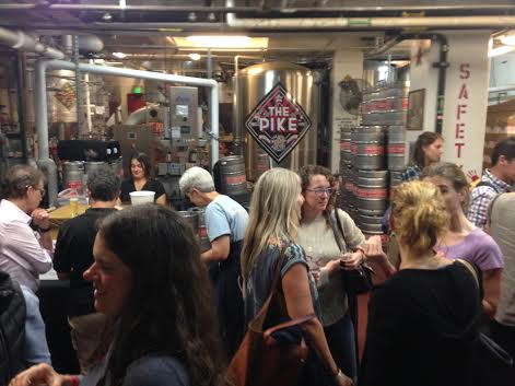 The brewery of Pike Brewing was transformed into the perfect event space for Women in Beer.