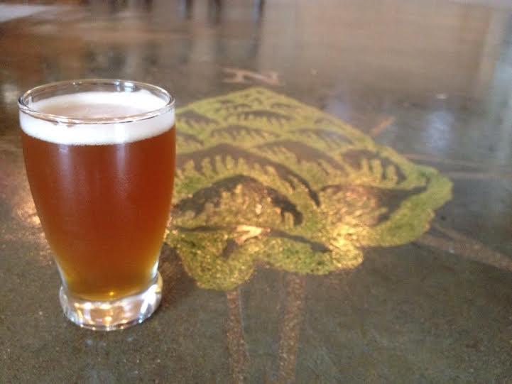 Beer with floor logo