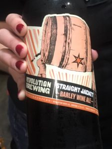 Straight Jacket Barley Wine