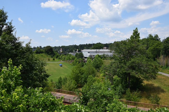 Orpheus Brewing has one of the biggest and best porches in the ATL, looking over the Atlanta Beltline.