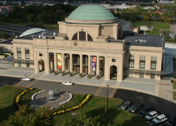 Overhead view of Science Museum of Virginia building.