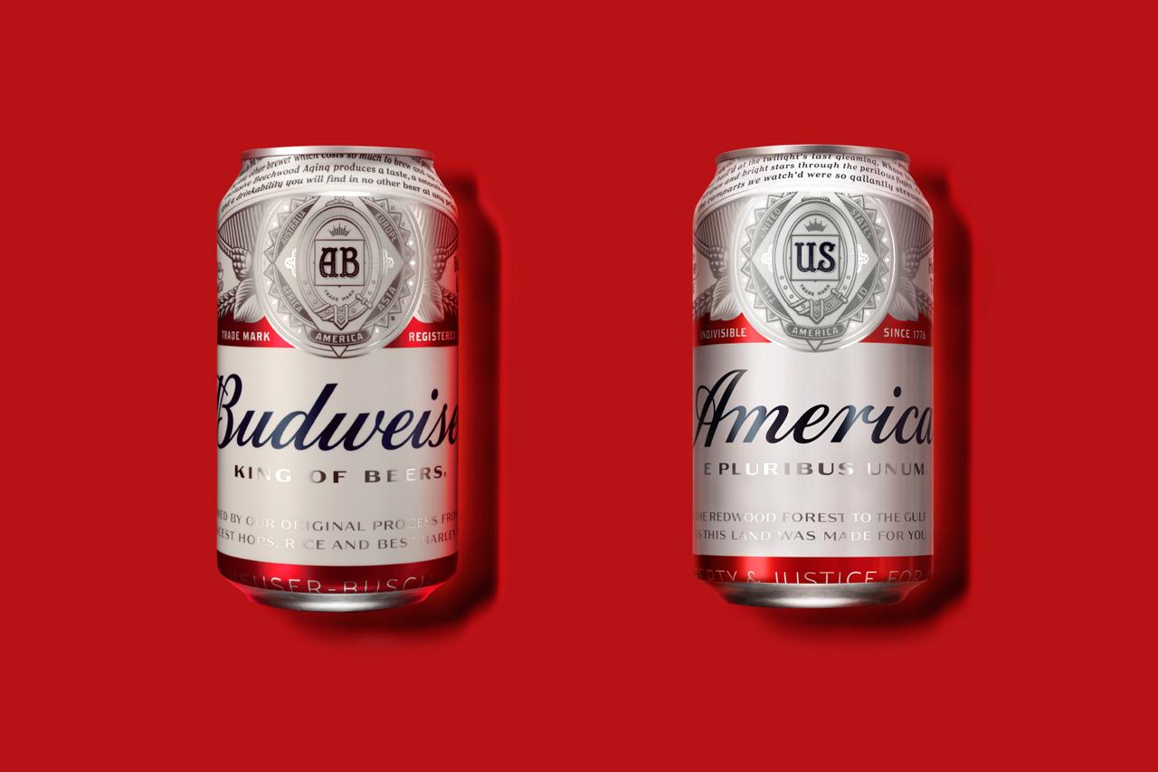 budweiser america label