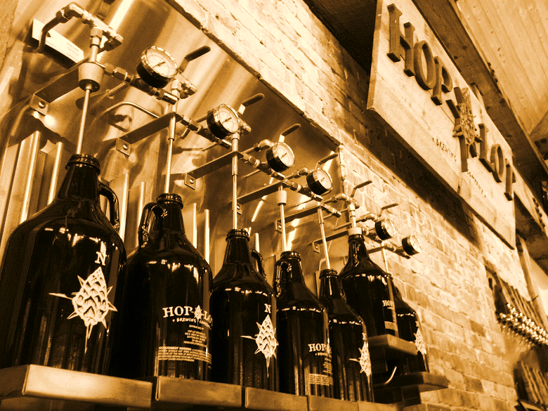 For a while when they first opened Hop Lot wasn't able to fill growlers because they didn't have enough beer.