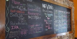Nevin's Brewing Company Beer Menu