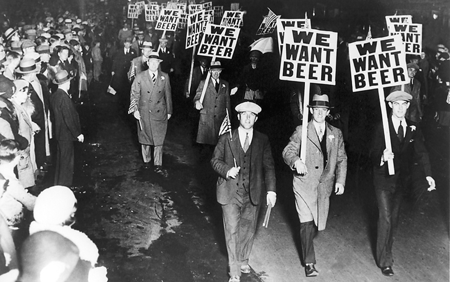 (Photo by Associated Press of Anti-Prohibition Parade in Newark, N.J., October 28, 1932)
