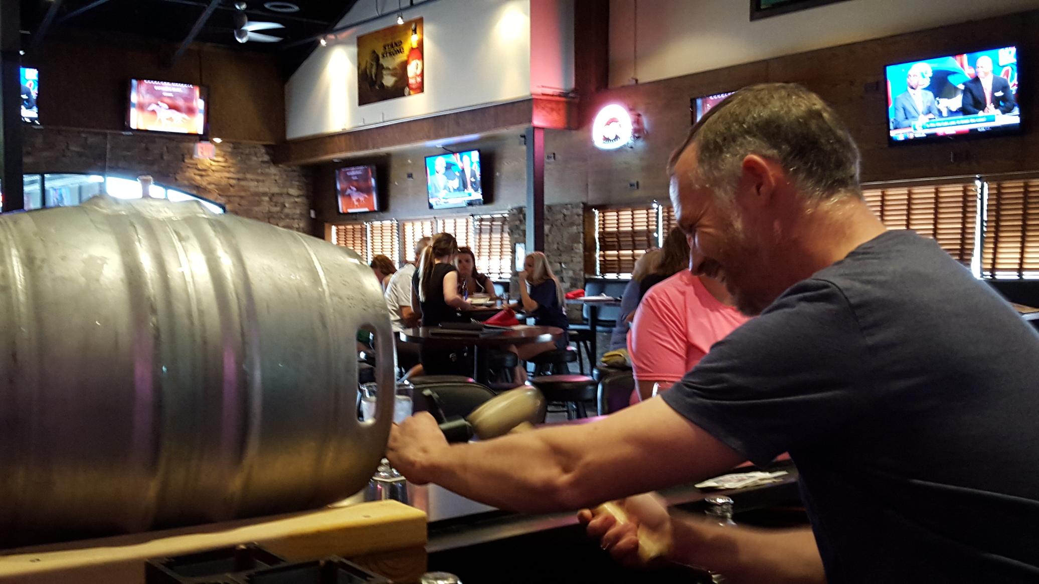 Nevin's Brewing Company 21 Beer Salute Firkin Mango IPA