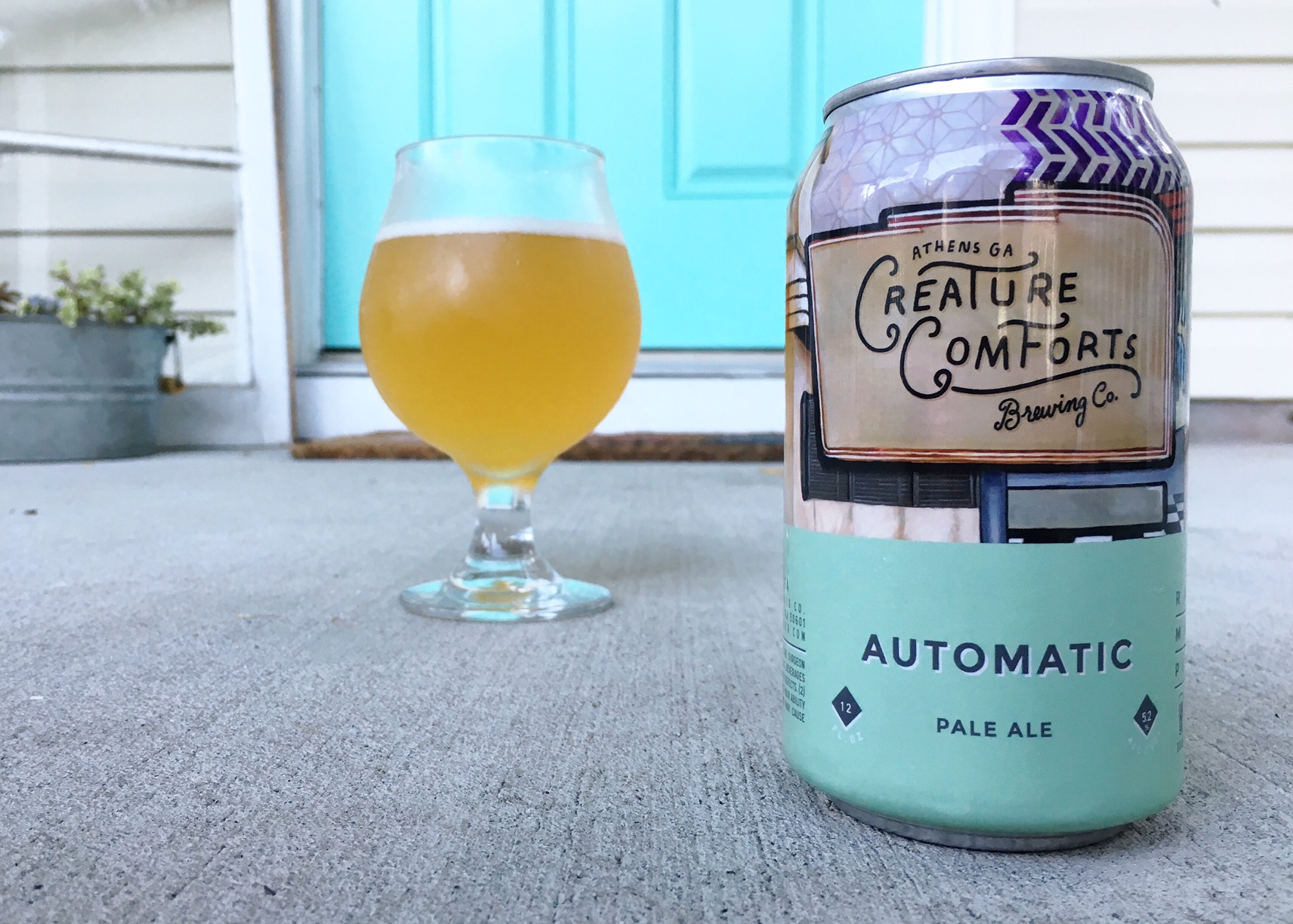 Automatic Pale ale on the front porch