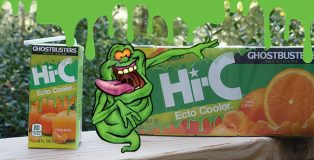Hi-C Ecto Cooler Juice Drink with Ghostbusters' Slimer