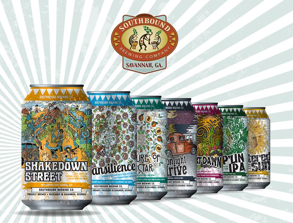 Southbound Brewing Co. canned beer line