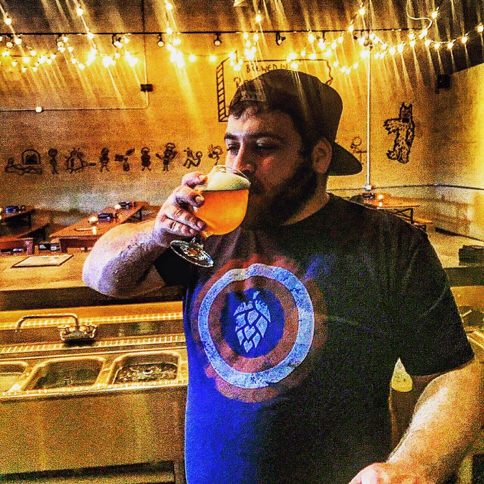 Head brewer Ethan Buckman enjoys a Lazlo Brett Pale Ale. (photo by Stickman Brews via Facebook)