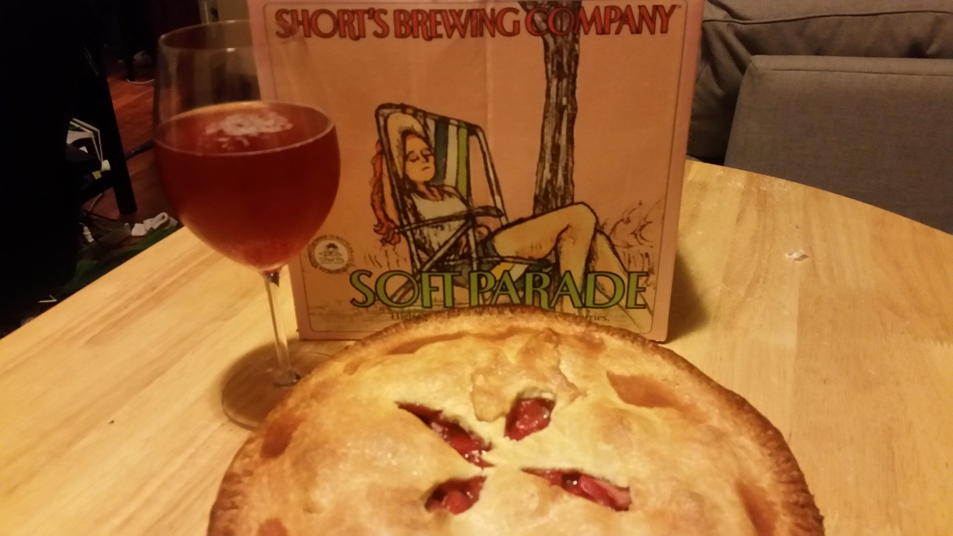Strawberry Rhubarb Pie, filling looks just like Soft Parade