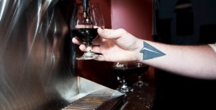 Black Project Spontaneous and Wild Ales Pour w: Tattoo
