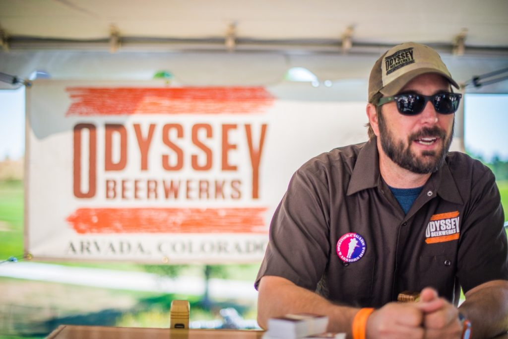 Chris from Odyssey Beerwerks - RMCF 2016 - photo courtesy of Will Dozier