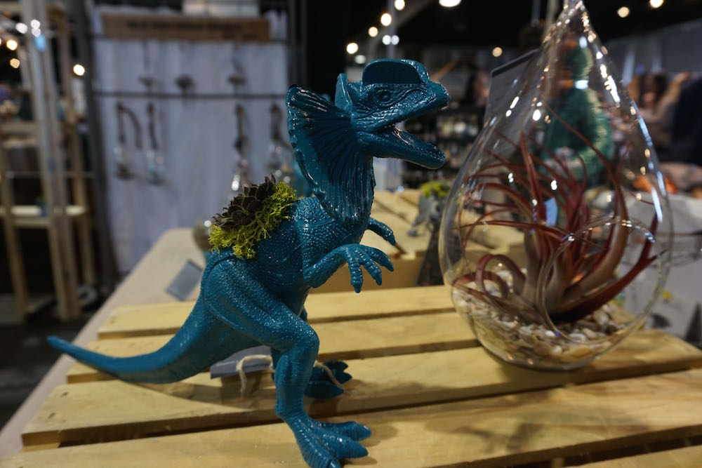Air plants inside of dinosaurs, all that and more available at Holiday Flea