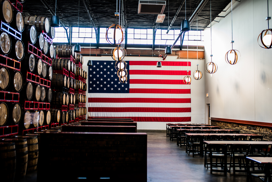 Always a popular destination, the production facility for Revolution features a big open beer hall with fresh Rev beer on tap. Photo credit: Eric Dirksen.