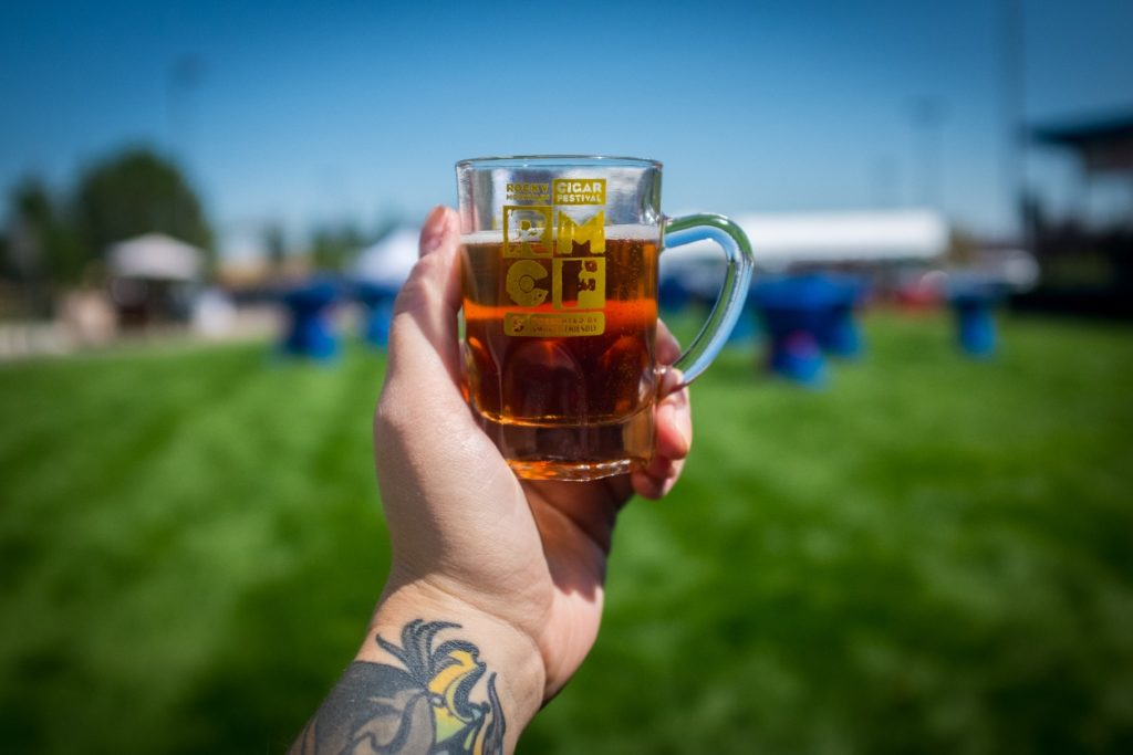 Lynn Appreciates her Brew on this beautiul August Day - RMCF 2016 - photo courtesy of Will Dozier