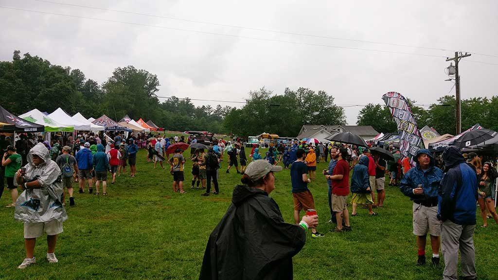 Burning Can Festival Crowd Rainy