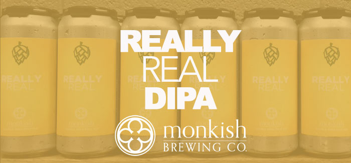 monkish brewing co really real dipa cover