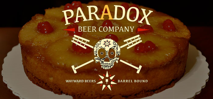 Paradox Beer Company Skully Barrel No. 40 Pineapple Upside-Down Sour Golden Ale aged in rum barrels cover