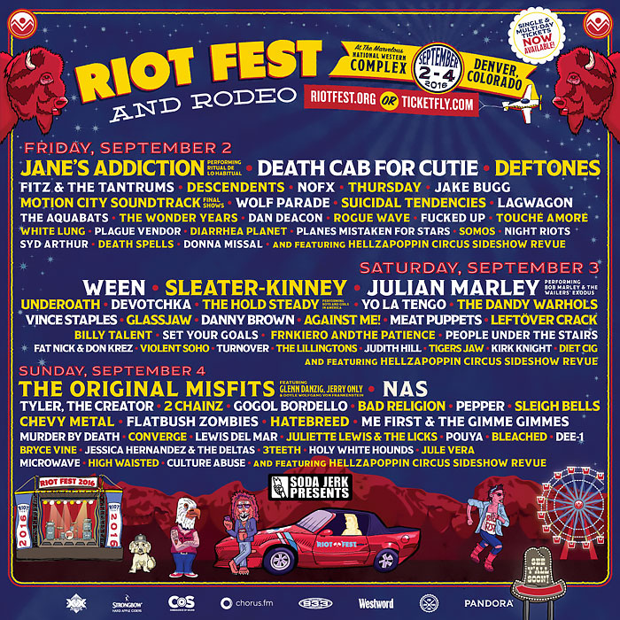 Riot Fest Denver Lineup 2016