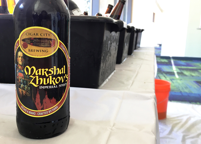 Savannah Craft Brew Fest Cigar City Marshal Zhukov's Imperial Stout bottle