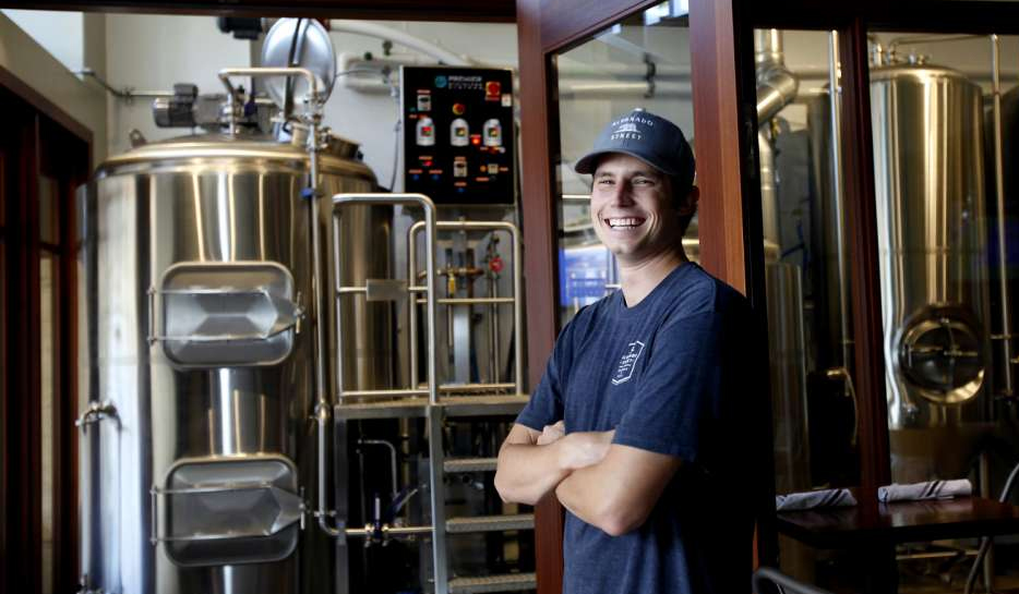 J.C. Hill, Alvarado Street Brewery & Grill co-owner and head brewer. (Photo: Sarah Rice / Special To The Chronicle)