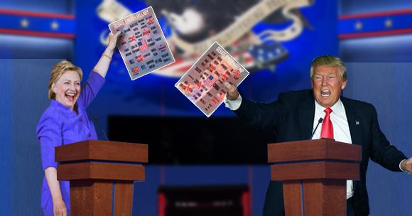 2016 Presidential Debate BINGO