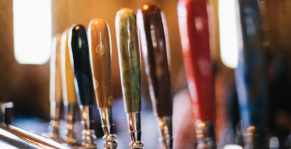 Beer Handles at Band Of Bohemia. Photo Credit: Band of Bohemia