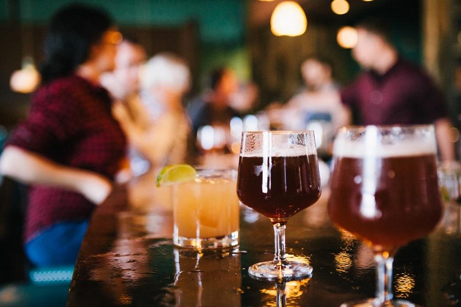 Drinks at the bar of Band Of Bohemia. Photo Credit: Band of Bohemia
