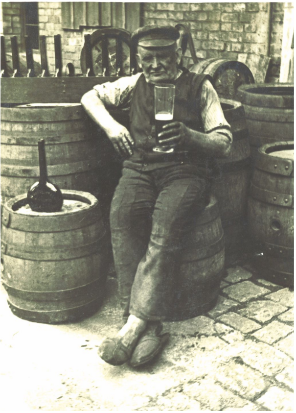 """Gose bottles are oddly shaped - fat and round at the bottom, with a long, slender, tapering neck. Why? As the beer finished fermenting, the yeasty foam rose up and crusted, forming a plug in the nexk - and so the bottles required no additional cork or crown."" The Beer Bible (Photo: Shelton Brothers)"