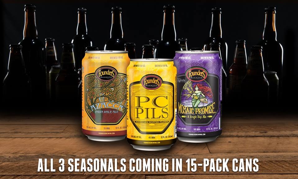 Founders Brewing 20th Anniversary Seasonal Lineup