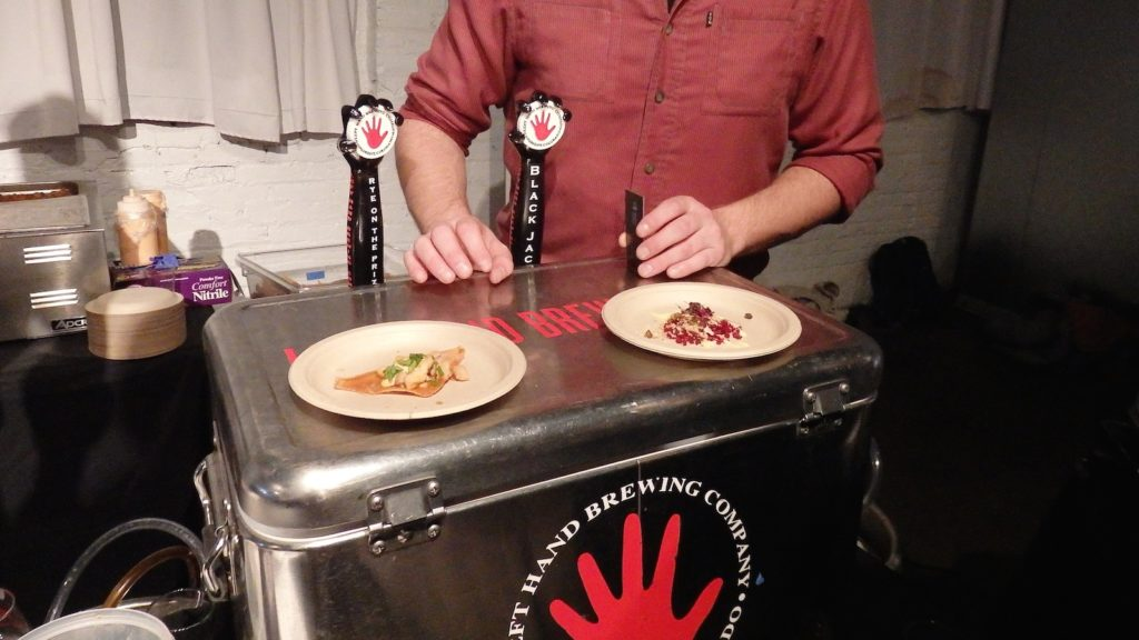 Left Hand Brewing Co teamed up with Samples World Bistro to create two delicious pairings