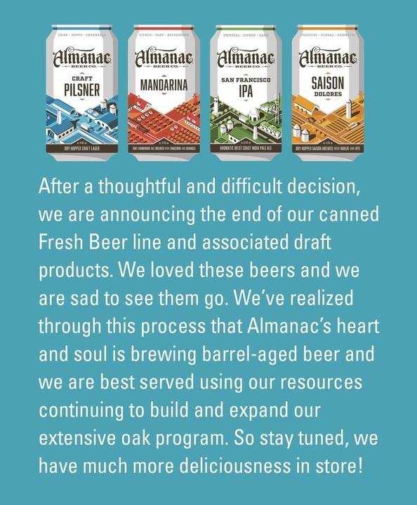 Almanac ends canned beer