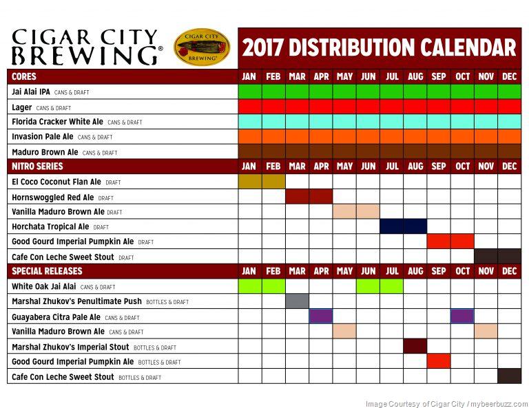 2017 Beer Release Calendar