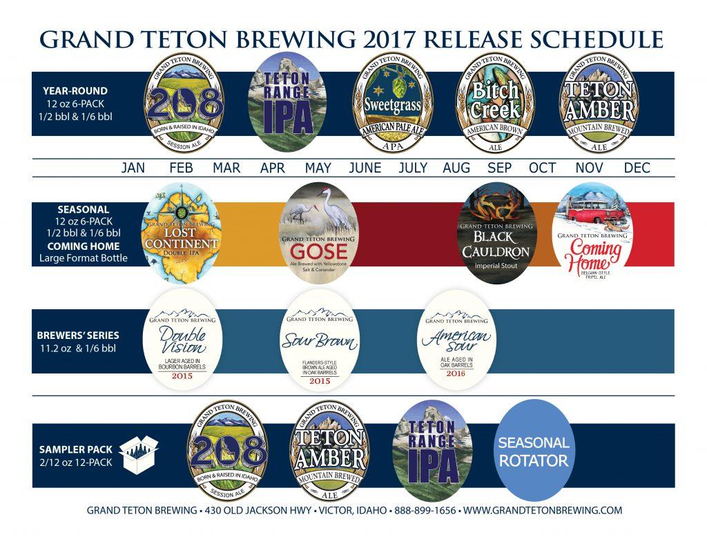 2017 Grand Teton Beer Release Calendar
