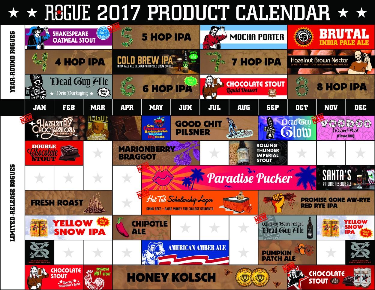2017 Rogue Ales Product Calendar