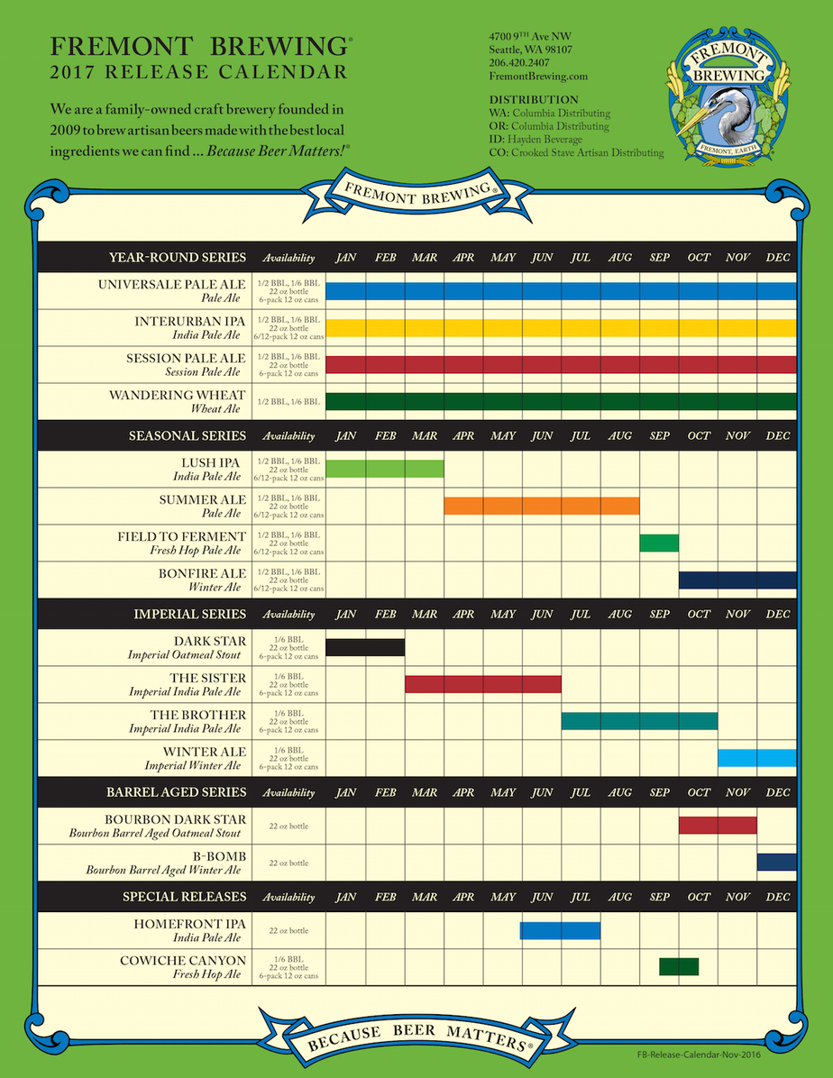 On Tap Credit Union Presents 2017 Beer Release Calendar