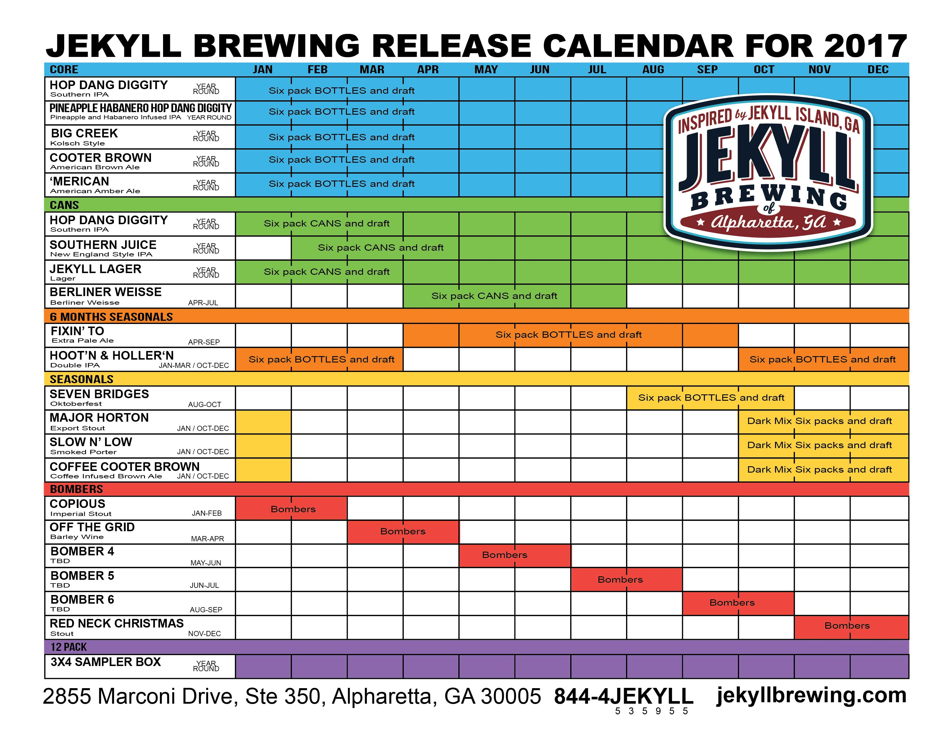 on tap credit union� presents 2017 beer release calendar