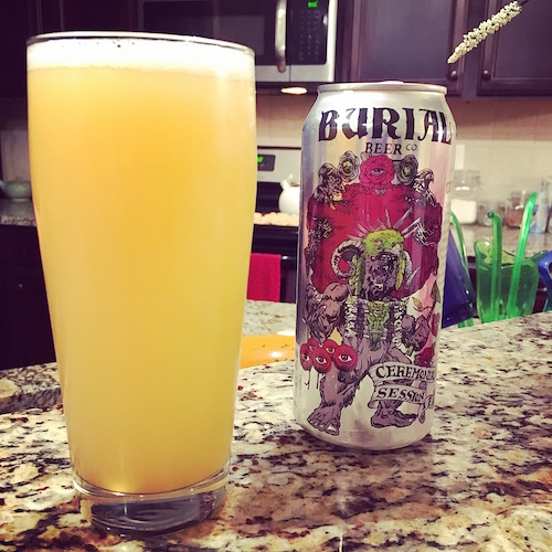 """I absolutely LOVE Burial's can designs. This IPA was one of only a few hazy IPAs that I've tried. It was fantastic, but oddly filling. As delicious as it was, I think I would have been just as happy staring at this marvel all night."" - Johnathan Pylant"