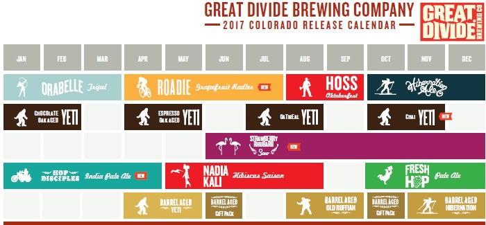 Great Divide Brewing Co. Announce Changes to their 2017 Beer Lineup