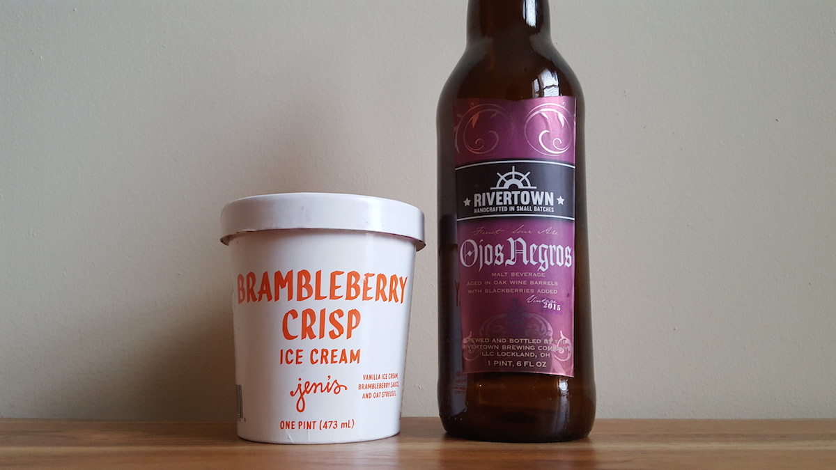 Rivertown Brewing's Ojos Negros Jeni's Ice Cream Pairing