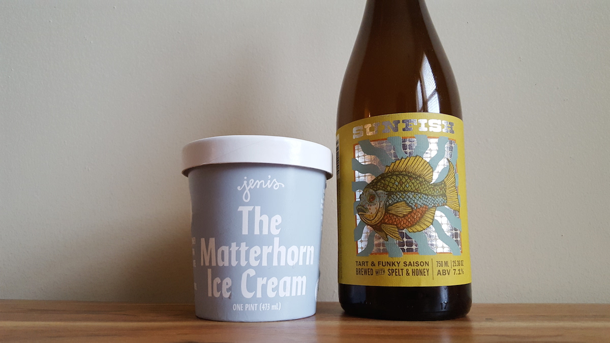 Little Fish Brewing Sunfish Jeni's Ice Cream Pairing