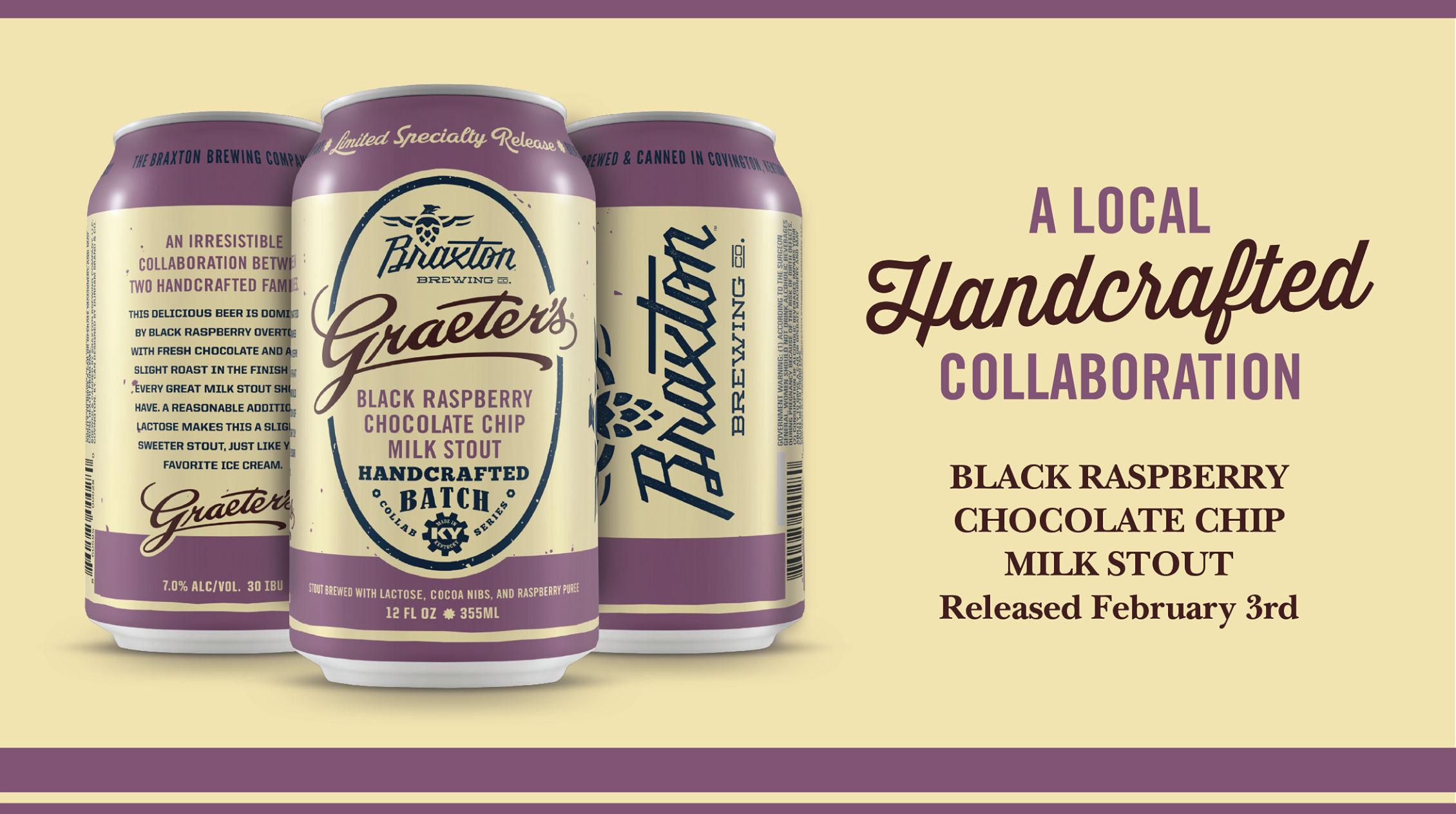 Braxton Brewing Graeter's Black Raspberry Chocolate Chip Milk Stout