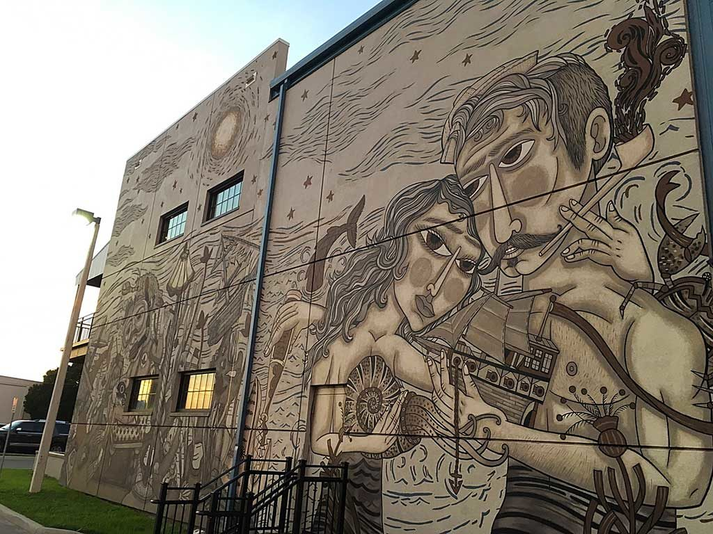 Coppertail Brewing building mural Tampa Florida