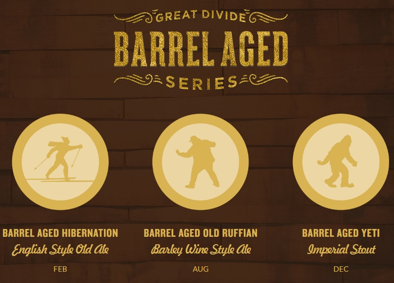 great divide - barrel aged beers
