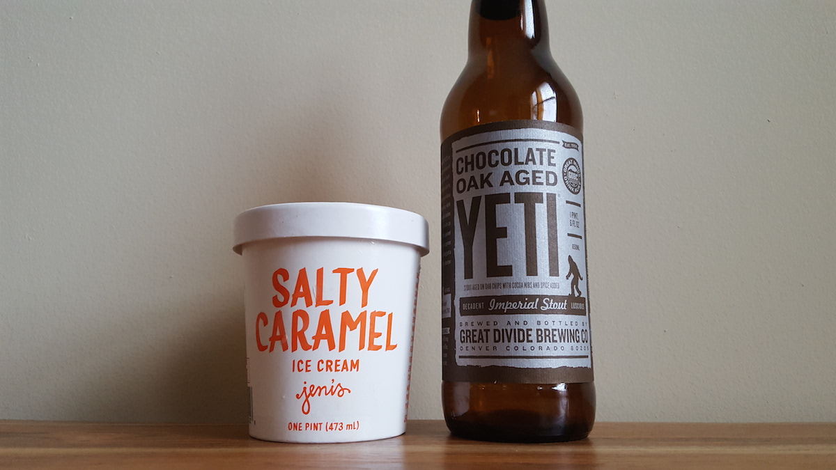 Great Divide Brewing Chocolate Oak-Aged Yeti Jeni's Salty Caramel Pairing