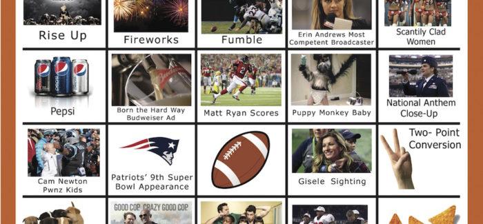 2017 Super Bowl Bingo Cards