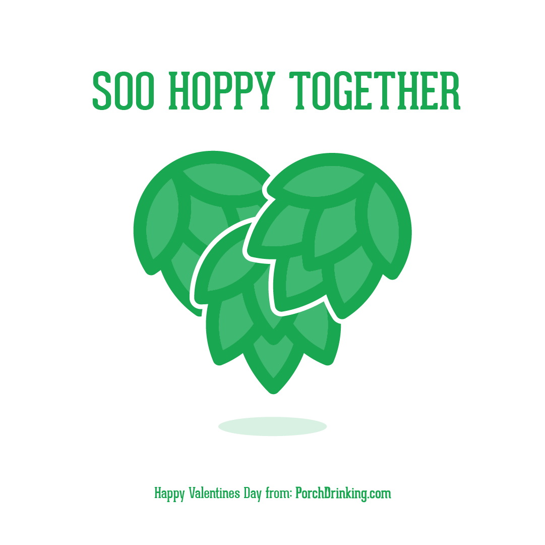 So Hoppy Together Beer Themed Valentine's Day Cards
